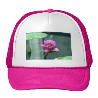 Hot Pink Water Lily Trucker Hat