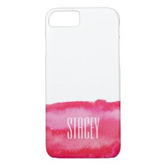 Hot Pink Watercolor Monogram iPhone 7 Case