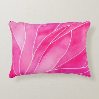 Hot Pink Watercolour Break Accent Pillow