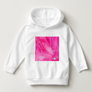 Hot Pink Watercolour Break Hoodie