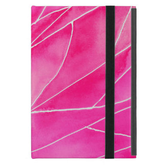 Hot Pink Watercolour Break iPad Mini Cover