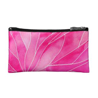 Hot Pink Watercolour Break Makeup Bag