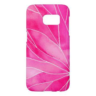 Hot Pink Watercolour Break Samsung Galaxy S7 Case