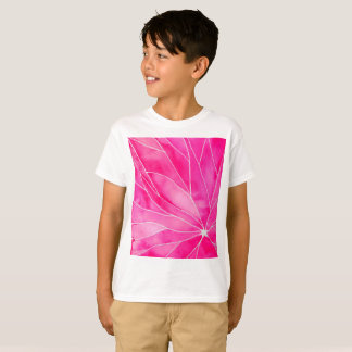 Hot Pink Watercolour Break T-Shirt