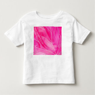 Hot Pink Watercolour Break Toddler T-shirt