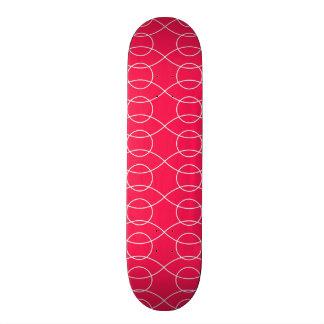 Hot Pink Wavy Pattern Skateboard Decks
