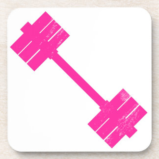 Hot Pink Weight Beverage Coasters
