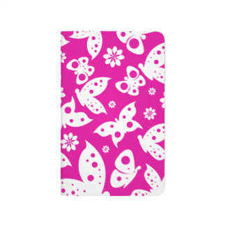 Hot Pink & White Butterfly Journal