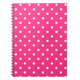 Hot Pink with White Polka Dots Spiral Notebook