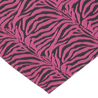 Hot Pink Zebra Animal Print Table Runner