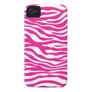 Hot Pink Zebra Animal Print Trendy iPhone 4/4s Case-Mate iPhone 4 Cases