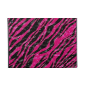 Hot pink zebra fur ipad powiscase iPad mini cover