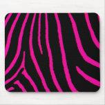 Hot Pink Zebra Print Mouse Pads
