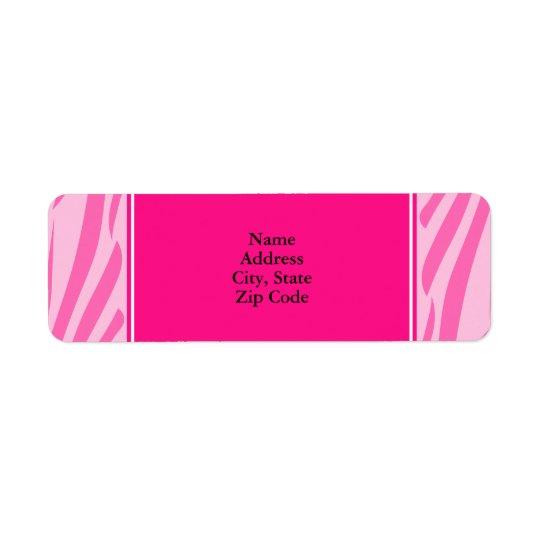 Hot Pink Zebra Print Return Address Label
