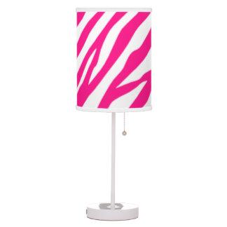 Hot Pink Zebra print table lamp
