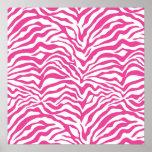 Hot Pink Zebra Print Wild Animal Stripes Novelty