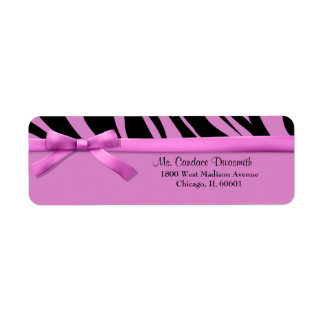 Hot Pink Zebra Stripes With Matching Ribbon