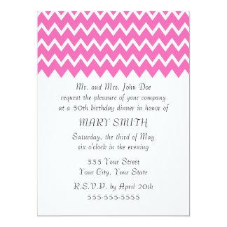 Hot Pink Zigzag Pattern Card