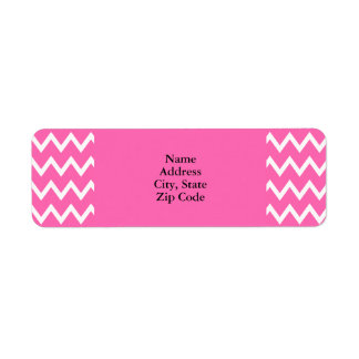 Hot Pink Zigzag Pattern Return Address Label
