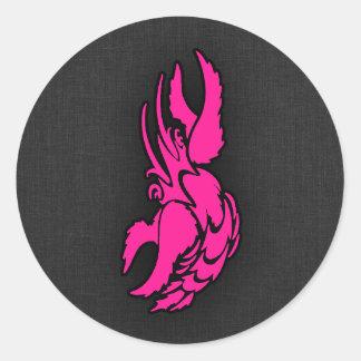 Hot Pink Zodiac Cancer Sign Classic Round Sticker
