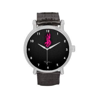 Hot Pink Zodiac Cancer Sign Wrist Watch