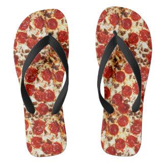 Hot Pizza Meme Flip Flops