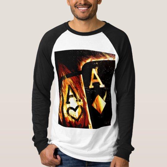 HOT POKER FLAMING ACES BULLETS T-Shirt