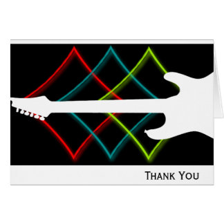 Hot Pop Color Guitar Business Note Card