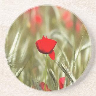Hot Poppy Coaster
