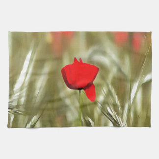 Hot Poppy Kitchen Towels