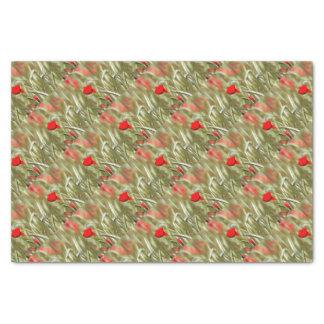 Hot Poppy Tissue Paper