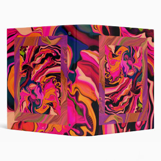 Hot psychedelic pink collage notebook binders