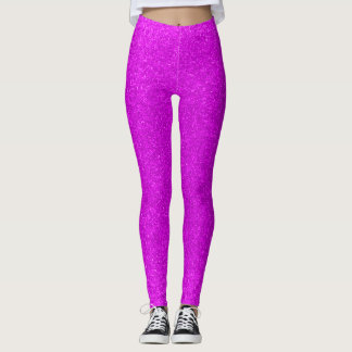 Hot Purple Space Sparkles Leggings