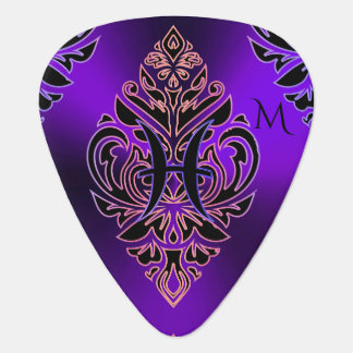 Hot Purple Zodiac Sign Pisces Tribal Pick