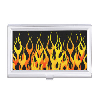 Hot Racing Flames Graphic Business Card Holder