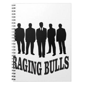 hot raging bulls spiral notebook
