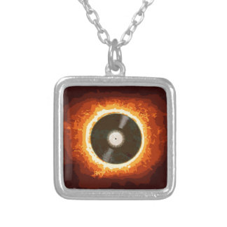 Hot Record Silver Plated Necklace