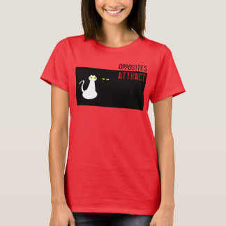 Hot Red Bright Cat Black White Funny Minimal Cool T-Shirt