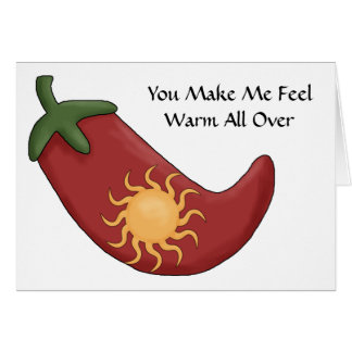 Hot Red Chili Pepper - Love Card