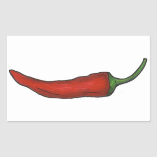 Hot Red Chili Pepper Spicy Chile Peppers Vegetable Sticker