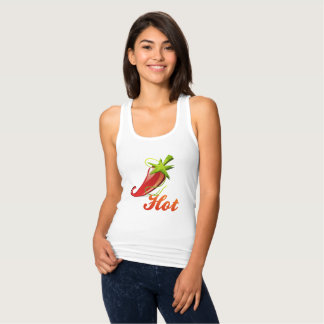 """Hot"" red chili pepper Tank Top"