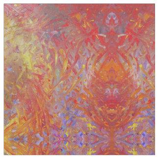 Hot Red - Fire Phoenix Fabric