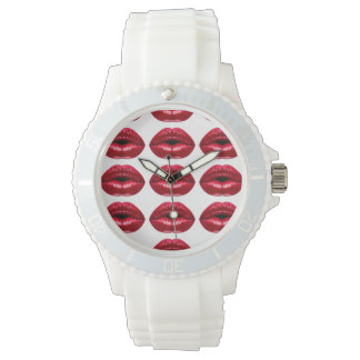 Hot Red Lips Beauty Watch