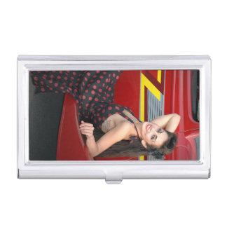 Hot Ride ZZ Rockabilly Hot Rod Pin Up Girl 1 Business Card Holder