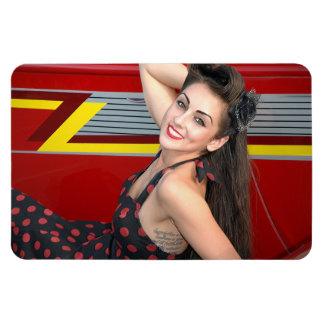 Hot Ride ZZ Rockabilly Hot Rod Pin Up Girl 1 Magnet