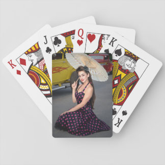 Hot Ride ZZ Rockabilly Hot Rod Pin Up Girl 2 Playing Cards
