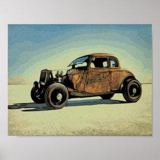 Hot Road Car Poster