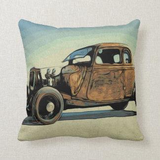 Hot Road Car Throw Pillow