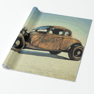Hot Road Car Wrapping Paper