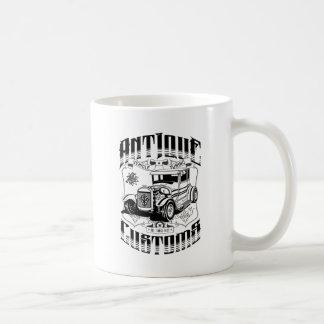 Hot Rod - Antique Customs (black) Basic White Mug